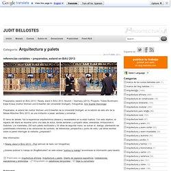 Categoría Arquitectura y palets