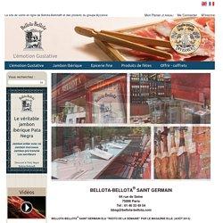 Le site de vente en ligne du vrai jambon ibérique Bellota Bellota ® et des produits Byzance
