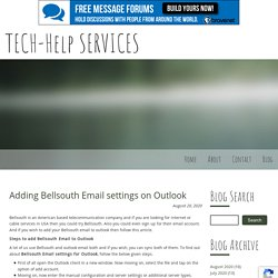 Adding Bellsouth Email settings on Outlook