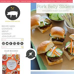 Pork Belly Slider recipe