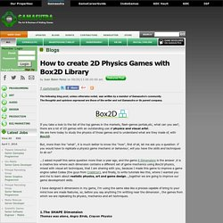 Juan Belon Perez's Blog - How to create 2D Physics Games with Box2D Library