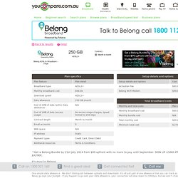 Belong - Broadband ADSL2+ Plan - Belong ADSL2+ Broadband – Large