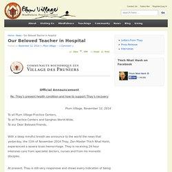 Our Beloved Teacher in Hospital