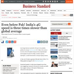Even below Pak! India's 4G speed is three times slower than global average