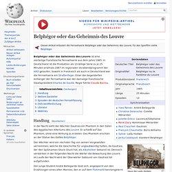 Belphégor oder das Geheimnis des Louvre