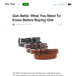 Gun Belts: What You Need To Know Before Buying One