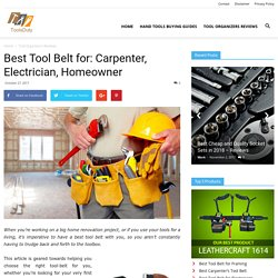 10 Best Tool Belts of 2018: Reviews & Comparison Chart + Buyer's Guide