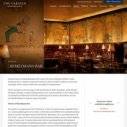 The Carlyle, A Rosewood Hotel - Bemelmans Bar