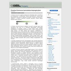 Creative Commons Hungary » Creative Commons bemutatása képregényben