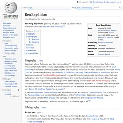 Ben Bagdikian