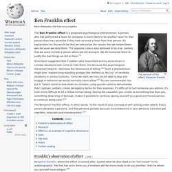 Ben Franklin effect - Wikipedia