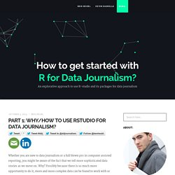 How to get started with R for Data Journalism?