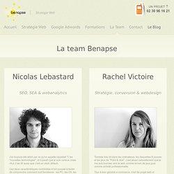 L'équipe Benapse : Rachel Victoire & Nicolas Lebastard