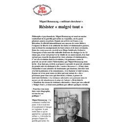 Miguel Benasayag, « militant chercheur » - Vimperator