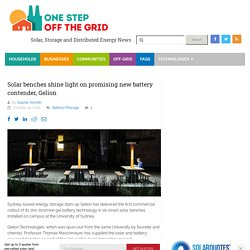 Solar benches shine light on promising new battery contender, Gelion