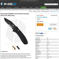 "Benchmade 5300SBK Tanto Presidio Automatic Knife (3.44"" Black Serr)"