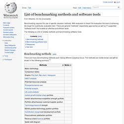 List of benchmarking methods and software tools - Wikipedia, the free encyclopedia - en.wikipedia.org (HTTP)