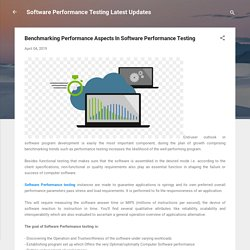 Benchmarking Performance Aspects In Software Performance Testing