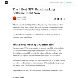 The 3 Best GPU Benchmarking Software Right Now