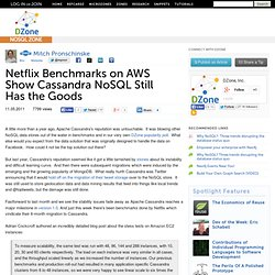 Netflix Benchmarks on AWS Show Cassandra NoSQL Still Has the Goods
