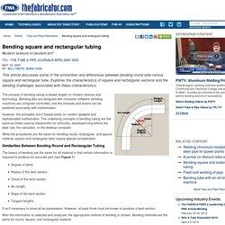 Bending square and rectangular tubing