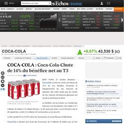 COCA-COLA : Coca-Cola-Chute de 14% du bénéfice net au T3, infos et conseils valeur US1912161007