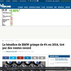 Le bénéfice de BMW grimpe de 6% en 2014, tiré par des ventes record