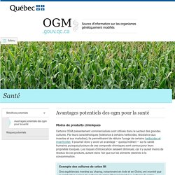1b - Avantages des OGM pour la santé