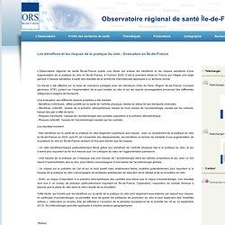 Les bénéfices et les risques de la pratique du vélo - Evaluation en Île-de-France