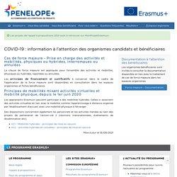 COVID-19 : information à l'attention des organismes candidats et bénéficiaires