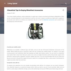 3 Beneficial Tips for Buying Wheelchair Accessories
