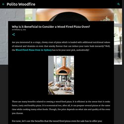 Why is it Beneficial to Consider a Wood Fired Pizza Oven? - Polito Woodfire