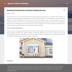 Beneficial Considerations On Exterior Painting Services