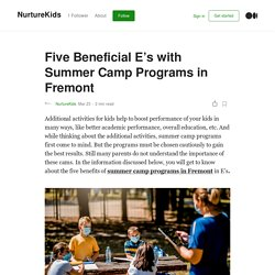 Five Beneficial E's with Summer Camp Programs in Fremont