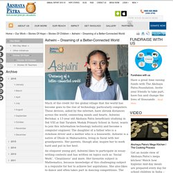 Ashwini – Beneficiary with a Flourishing Dream