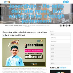 Akshaya Patra Beneficiary Dreaming to Become a Policeman