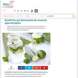 Beneficios que desconocías de consumir agua de pepino