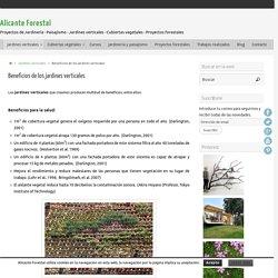 Beneficios de los jardines verticales - Alicante Forestal