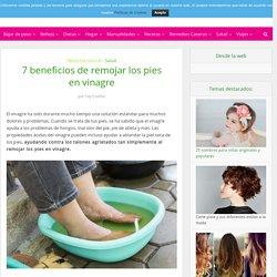7 beneficios de remojar los pies en vinagre