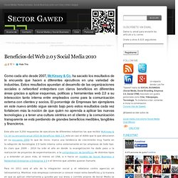 Beneficios del Web 2.0 y Social Media 2010 « Sector Gawed