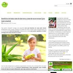 Zumo de aloe vera y zumo de uva Canaria
