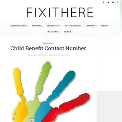 Child Benefit Contact Number