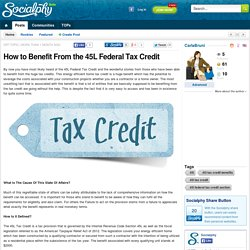 How to Benefit From the 45L Federal Tax Credit