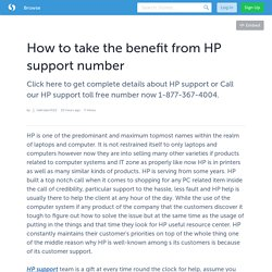 How to take the benefit from HP support number