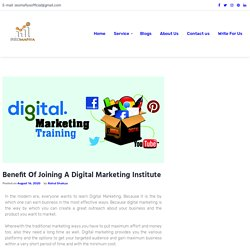 Benefit Of Joining A Digital Marketing Institute