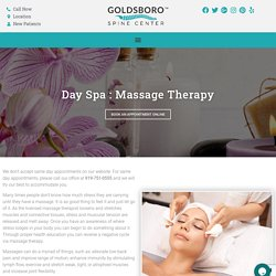 Massage Therapy Services at Goldsboro Spine Center