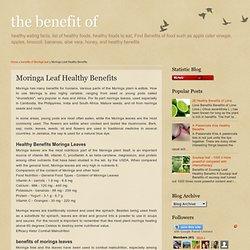 Moringa Leaf Healthy Benefits