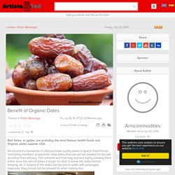 Benefit of Organic Dates Article