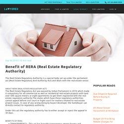 Benefit of RERA (Real Estate Regulatory Authority)