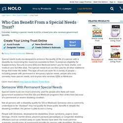 Who Can Benefit From a Special Needs Trust?